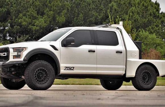 Flatbed Ford F-150 Raptor Is Supercharged For Good Measure