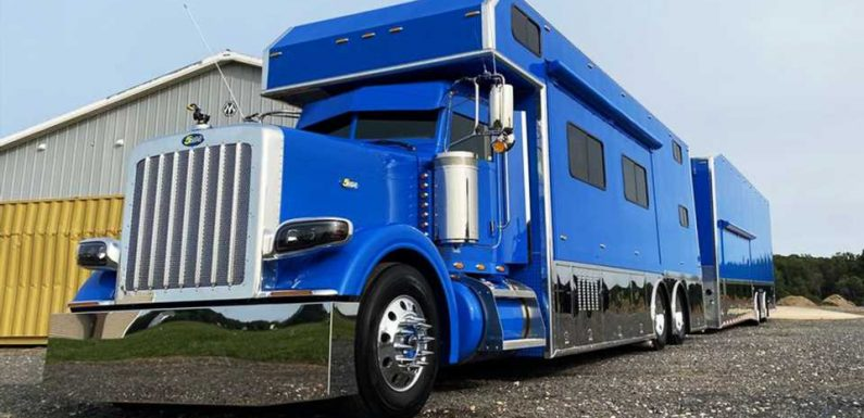 Rule the Road and Track with This $550K Peterbilt 'Toterhome' and Mobile Race Shop