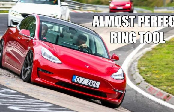 Go For A Fast POV Drive In A Modified Tesla Model 3 On The Nurburgring