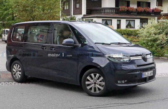 VW Transporter T7 Spied Inside And Out Showing Golf-Like Cabin