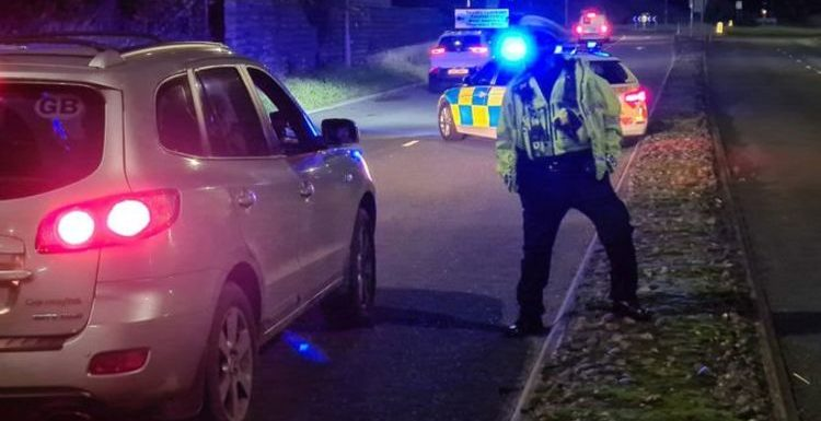 Police conduct roadside 'checkpoints' to ensure drivers are following new lockdown rules