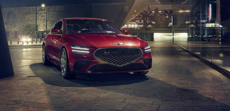 2022 Genesis G70 Gains Family Resemblance, Sport Plus and Drift Modes