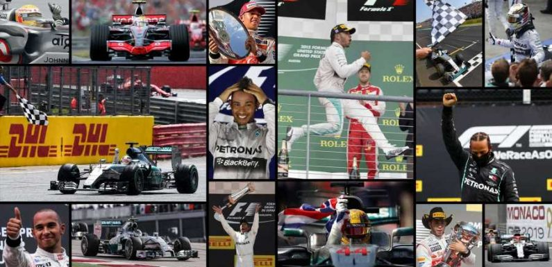 All 91 of Lewis Hamilton's F1 Victories in Pictures