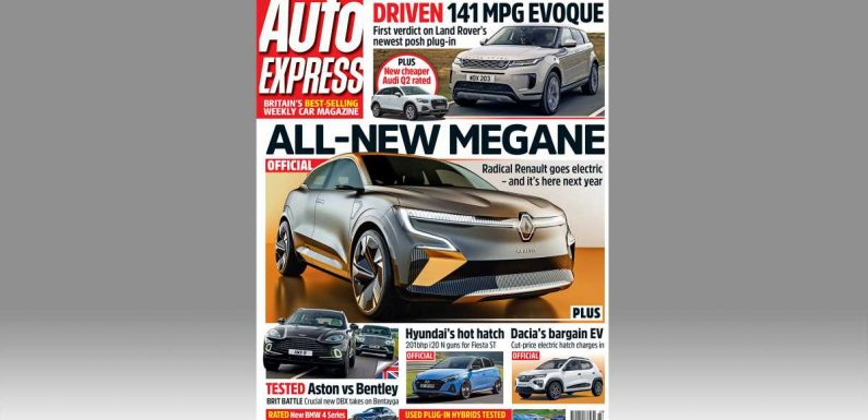 Renault Megane set to go electric and new Range Rover Evoque PHEV driven in this week's Auto Express