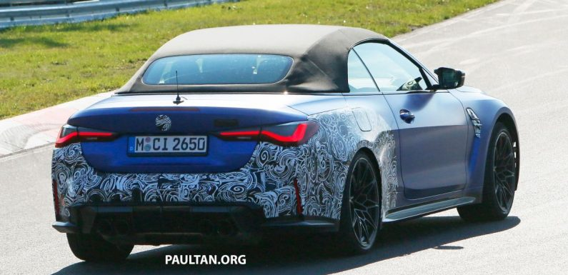 SPIED: 2021 BMW M4 Convertible, less camouflage – paultan.org