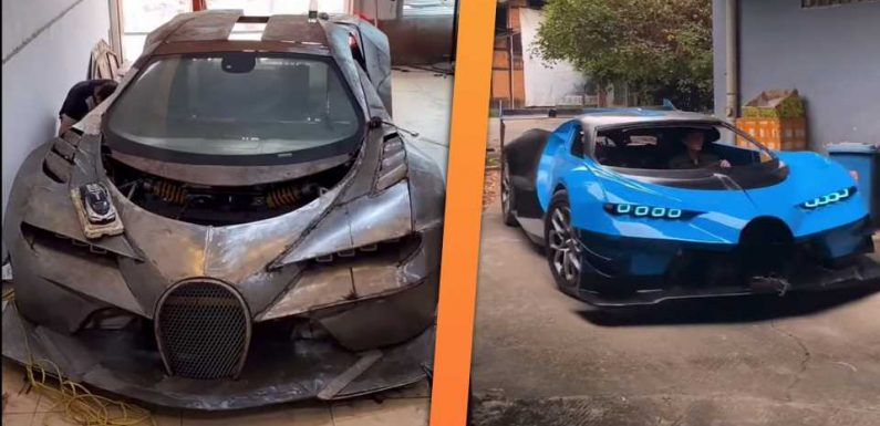 Bugatti Vision Gran Turismo Replica Built by Chinese Mechanic Is Fully Drivable
