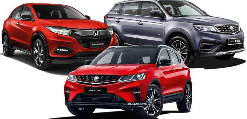 2020 Proton X50 versus the X70 and Honda HR-V – we compare servicing costs over five years/100,000 km – paultan.org