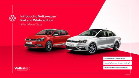 Red & White special edition Volkswagen Polo & Vento launched