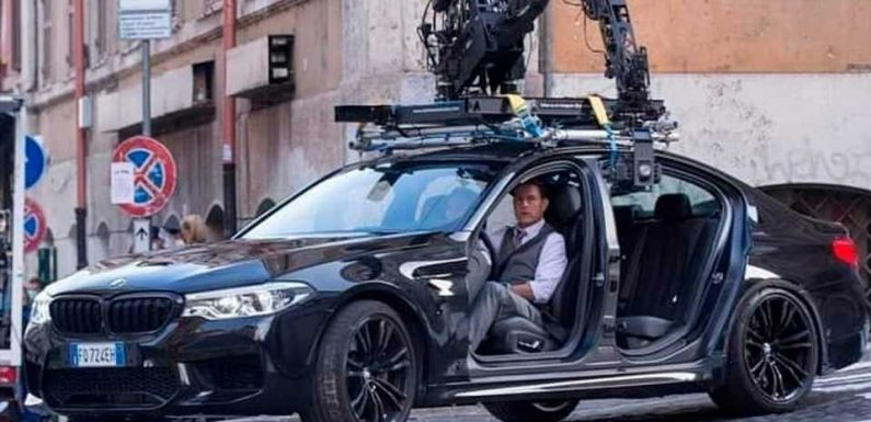 Tom Cruise Drives Doorless BMW M5 On Mission Impossible 7 Set