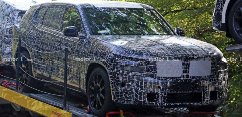 BMW X8 Extensively Spied Showing Its Rounded Styling