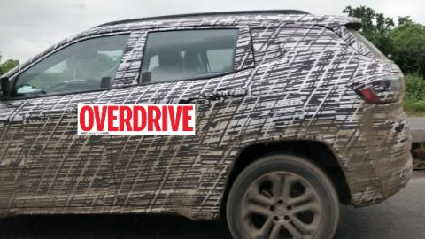 7-seater Jeep Compass spied testing