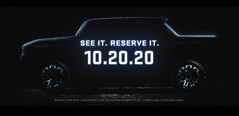 New GMC Hummer EV Teaser Uses A Lot Of Words To Show Us Little