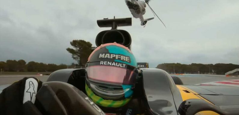 The Coolest Track Battle In Ages Is an Airbus ACH160 Helicopter Chasing a Renault F1 Car