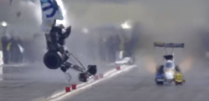 Watch Leah Pruett, Alexis DeJoria Walk Away From Incredible NHRA Crashes, Explosions