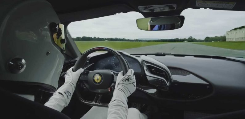 Watch The Stig Blitz Top Gear Track Record With Ferrari SF90 Stradale