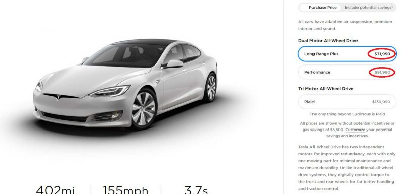Tesla Lowers Model S Prices In U.S. And Other Markets