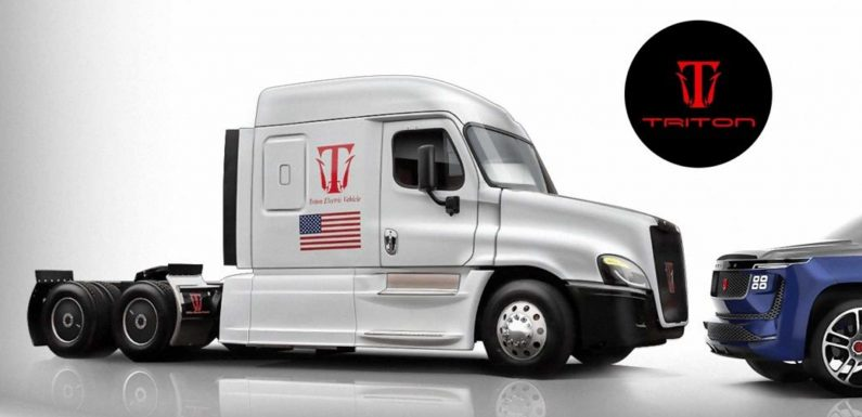 Triton-EV Shows Off Electric-Hydrogen Semi Truck