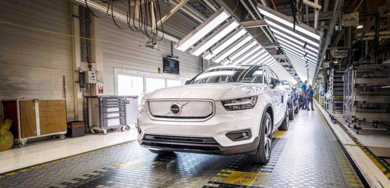 Fully Electric Volvo XC40 Recharge Enters Production