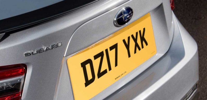 Crackdown coming on illegal number plate trade