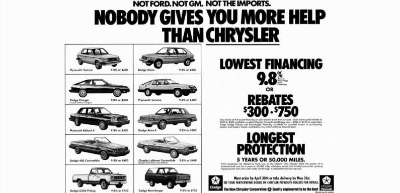 Stagflation? No Worries, Chrysler Has 9.8% Financing On the New 1983 Models!