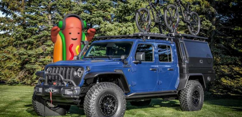 We've Reached Peak Jeep: Gladiator Top Dog Concept Has Built-In Hot Dog Grill, Bun Warmer