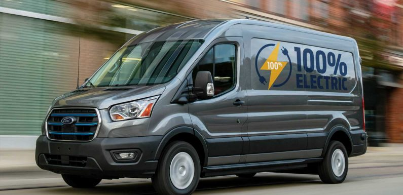 New all-electric Ford E-Transit van revealed