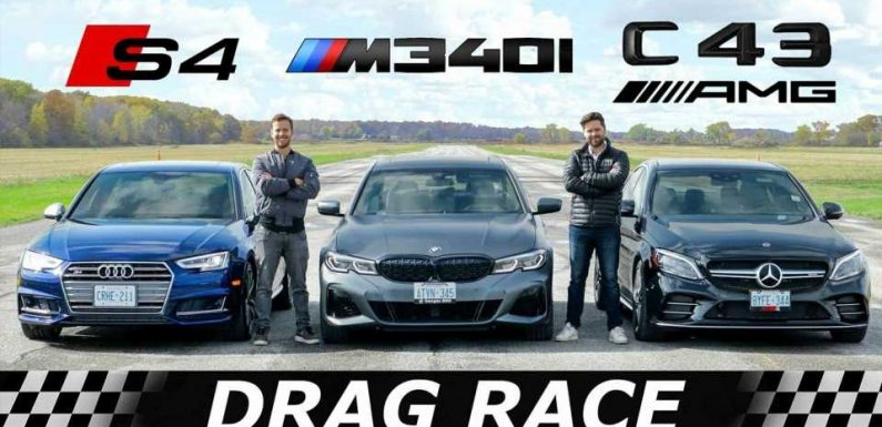 See BMW M340i, Audi S4, Mercedes-AMG C43 Compete In Three Drag Races