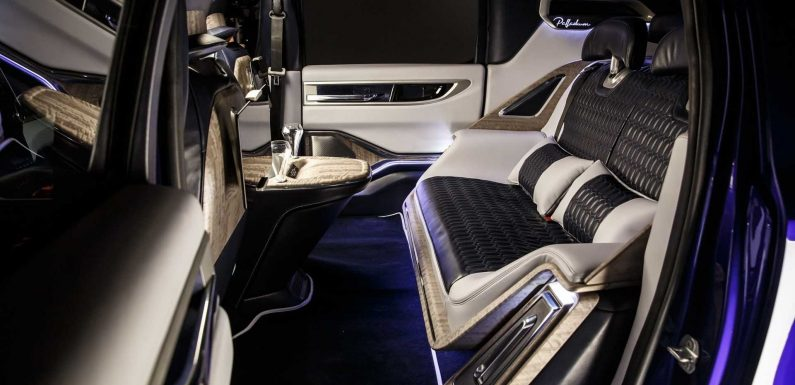 Aznom Palladium Hyper-Limousine Shots It Luxurious Backseat And Tech