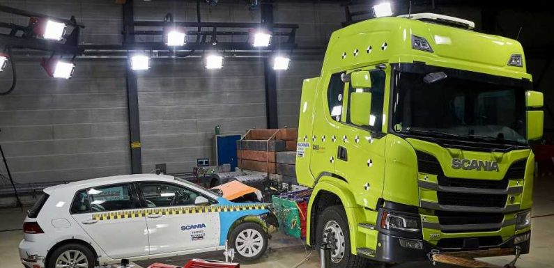 Watch The First Electric Scania Truck Crash Test
