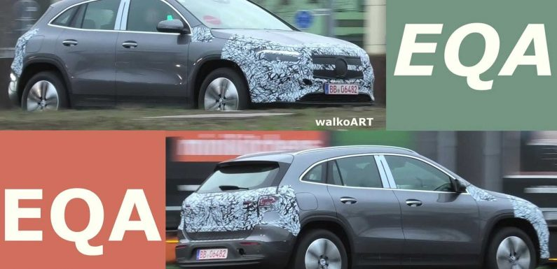 Less Camouflaged Mercedes-Benz EQA Prototype Spied