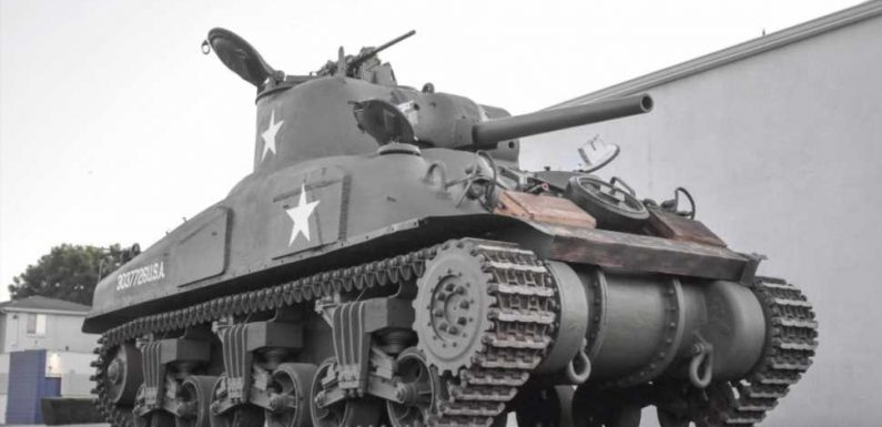 Holy Crap, There's a Sherman Tank for Sale on Bring a Trailer