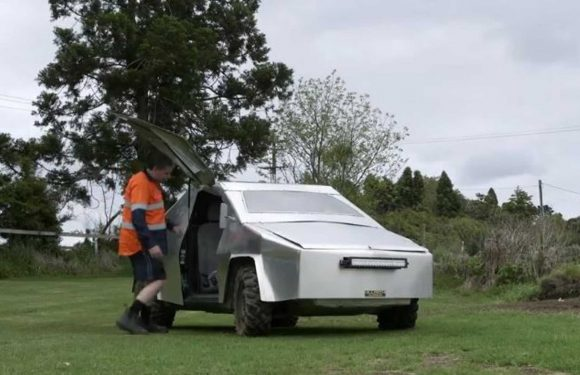 New Zealand Man's DIY Tesla Cybertruck (Toyota Vitz)  Sold For $999