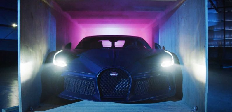 Unboxing Videos Reach New Level With Bugatti Divo In Matte Blue