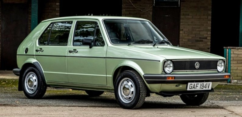 VW Golf with 738 Miles on the Clock Heads to Auction