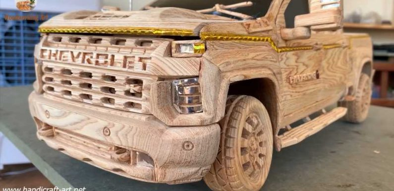 Carving a Chevy Silverado Out of Wood Is Hard. Making It Functional Is Even Harder