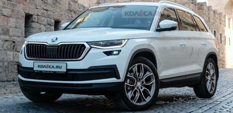 2021 Skoda Kodiaq Facelift Rendered After Recently Spotted Prototype