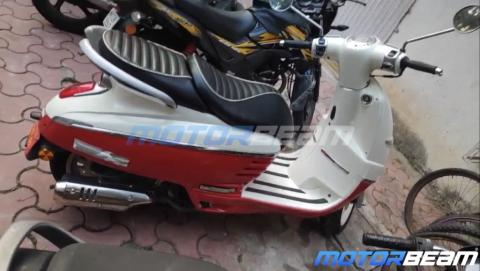 Peugeot Django 125 retro-styled scooter spotted in India
