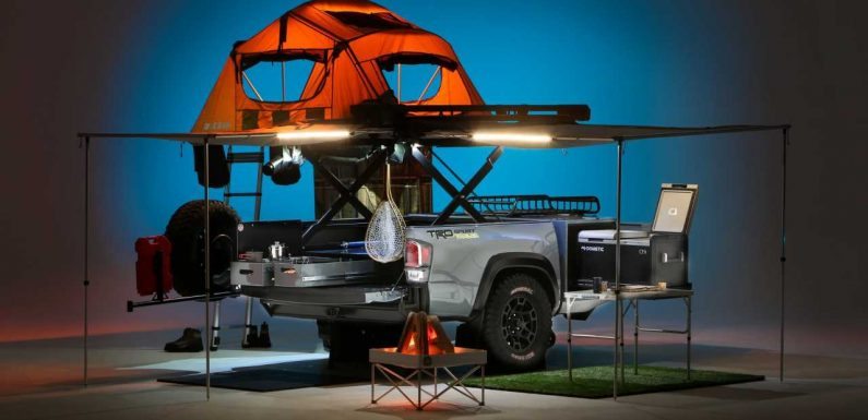 Toyota Turned a Tacoma Pickup Bed Into an Overlanding Trailer for SEMA