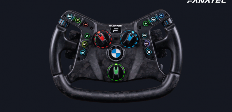 Fanatec's New BMW Wheel is a Sim Racing Wheel You Can Put In Your Race Car