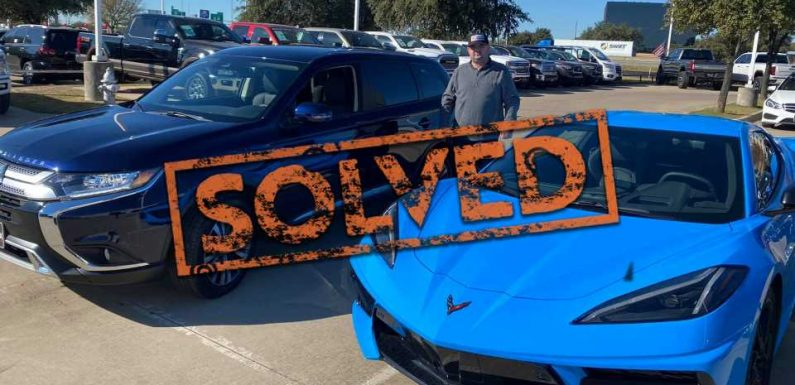 Here's Why This Guy Traded In His C8 Corvette for a Mitsubishi Outlander