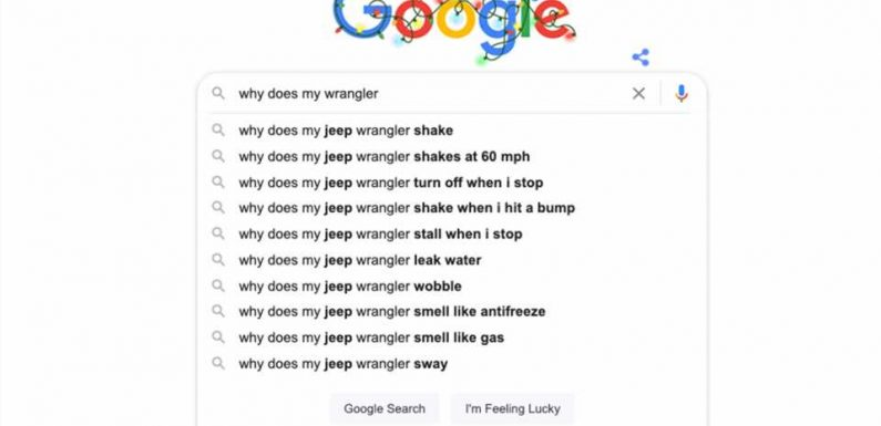 What Does Google Search's Autocomplete Think About Your Car?