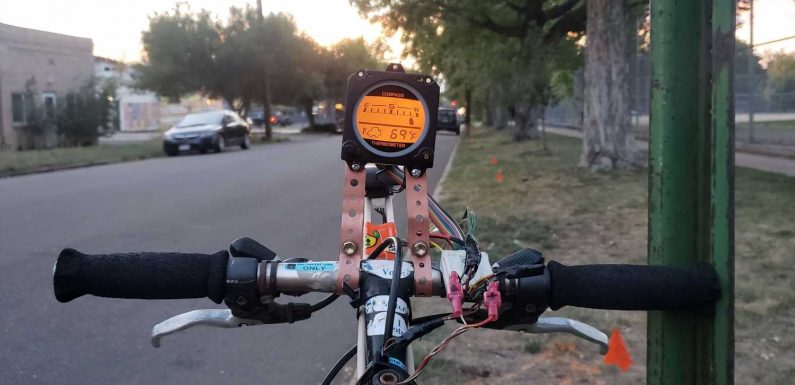 Installing a Mitsubishi Montero Electronic Compass on a Bicycle, Just Because