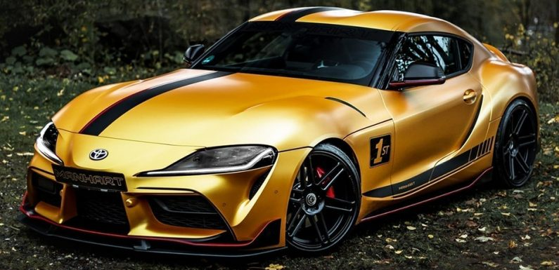MANHART'S Gold-Wrapped 2020 Toyota Supra Delivers 550 HP