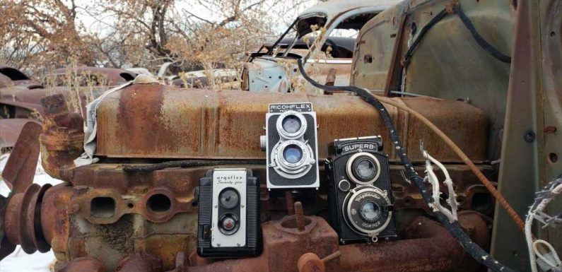 High Plains Boneyard Documented With TLR Cameras From 1930s, 1940s and 1950s.