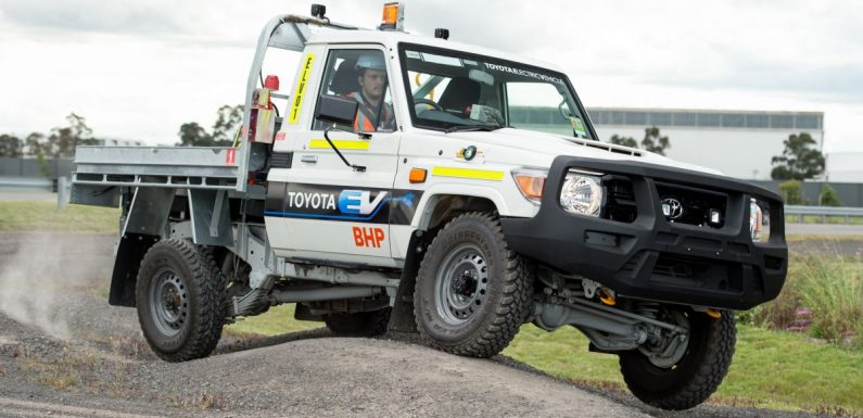 Toyota Australia, BHP unveil new battery electric-converted Land Cruiser for underground mining use – paultan.org