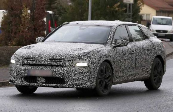 New 2021 Citroen flagship saloon spied with big SUV influence