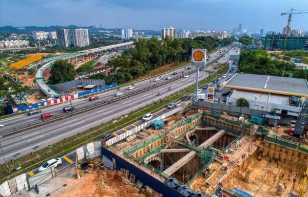 Full lane closures at KL-Seremban Highway near South City Plaza for MRT works, contra flow by stages – paultan.org