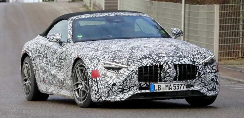 New 2021 Mercedes SL spied again ahead of spring reveal