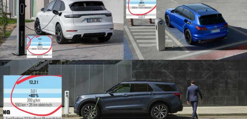 Autobild Test Reveals PHEVs Have Much Higher Emissions Than Advertised