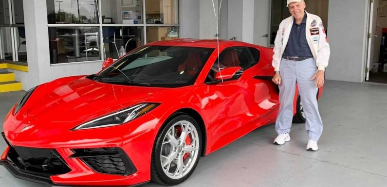 90-Year-Old Celebrates Birthday With A Brand-New Chevy Corvette C8